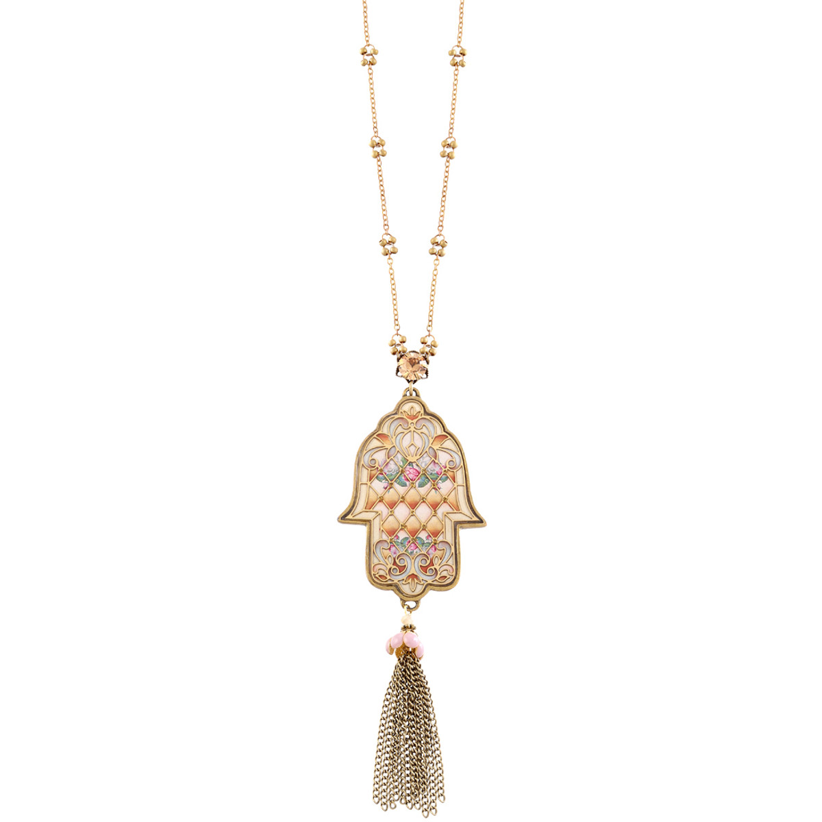 Michal Negrin Bell Necklace - Multi Color