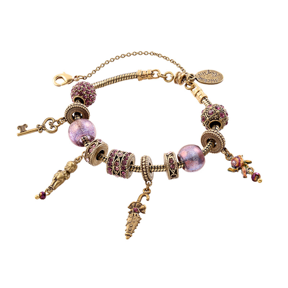 Michal Negrin Keychain Bracelet - Multi Color