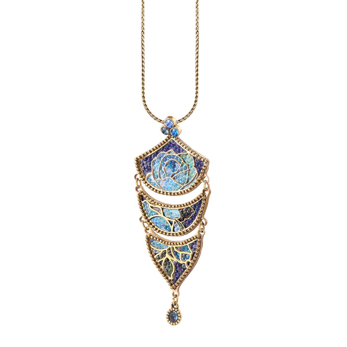 Michal Negrin Blue Fade Necklace - Multi Color
