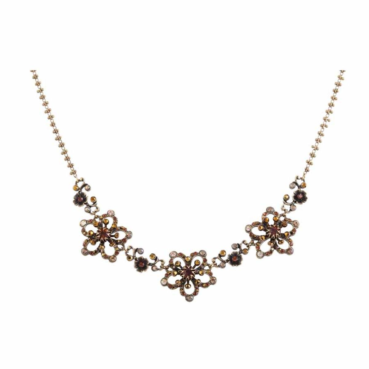 Michal Negrin Antique Shine Necklace - Multi Color