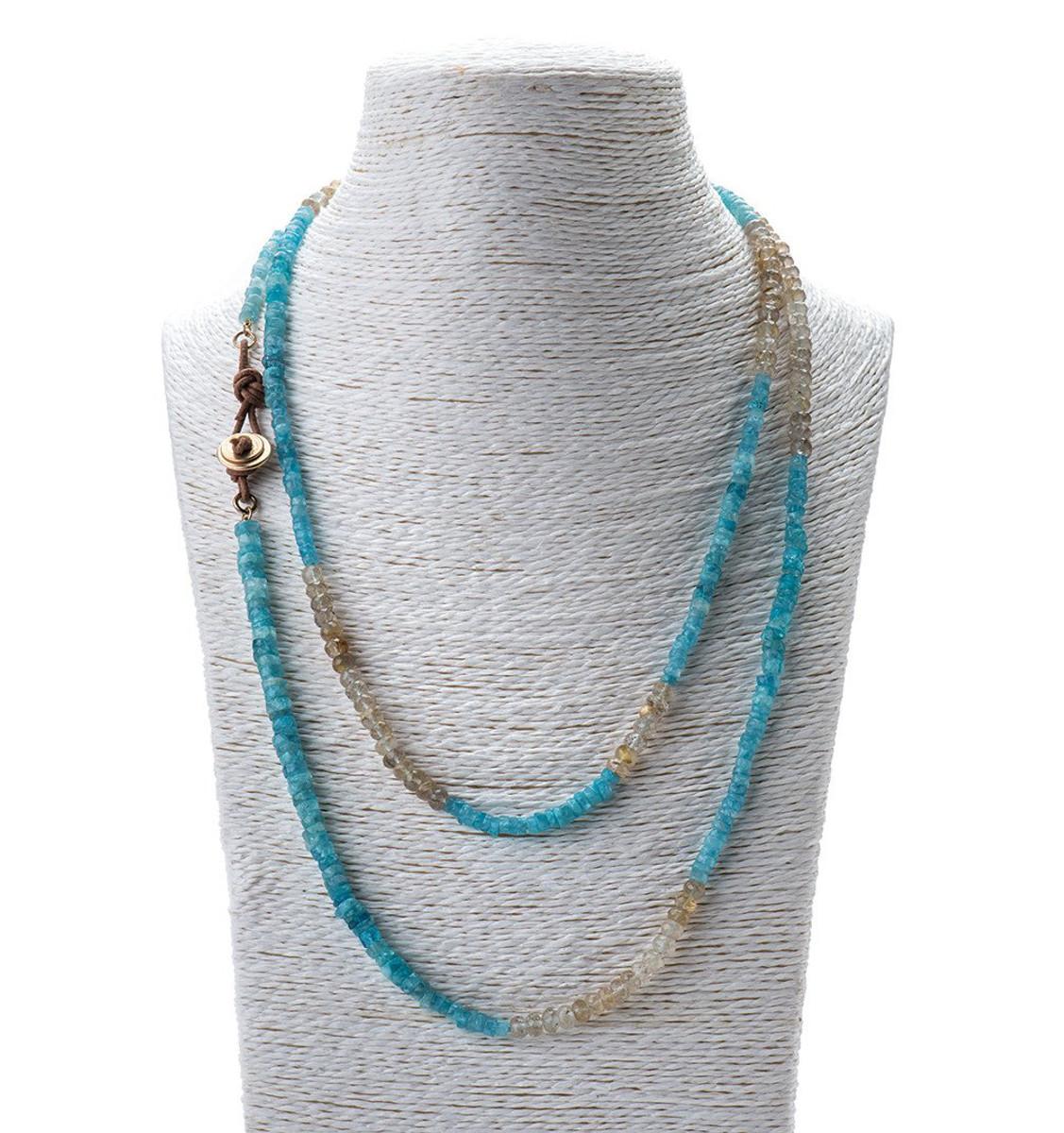 Button Me Up Necklace by the designer Nava Zahavi - New Arrival