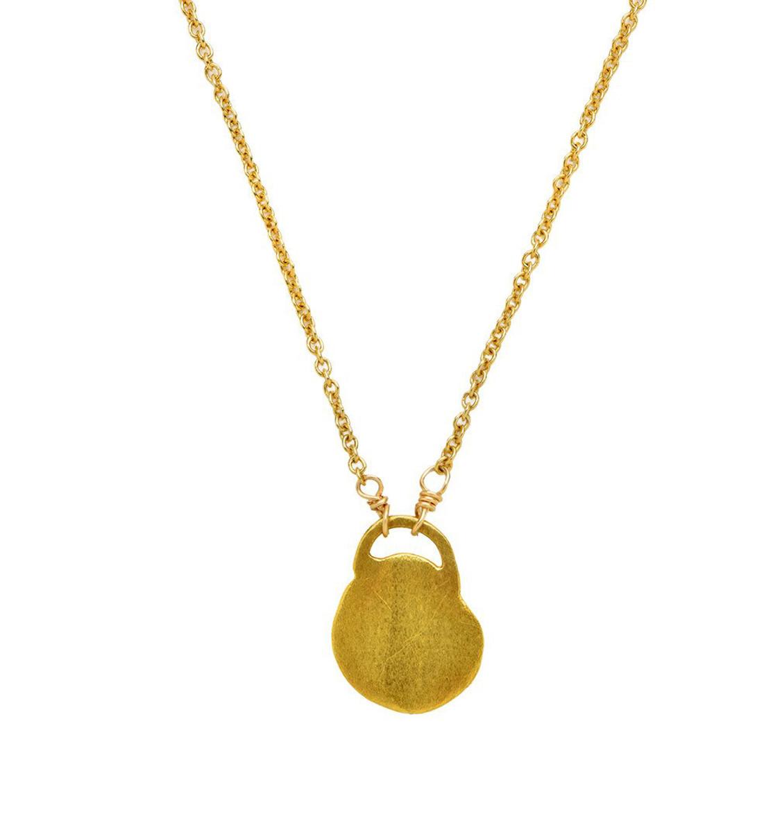 Golden Lock Necklace by Nava Zahavi - New Arrival
