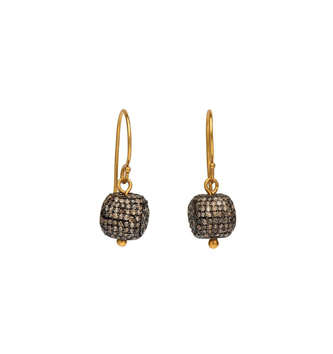Diamond Ball Earrings by Nava Zahavi - New Arrival