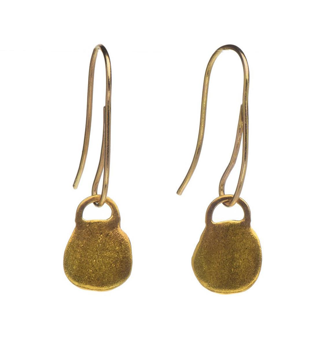 Lock of Gold Earrings - New Arrival