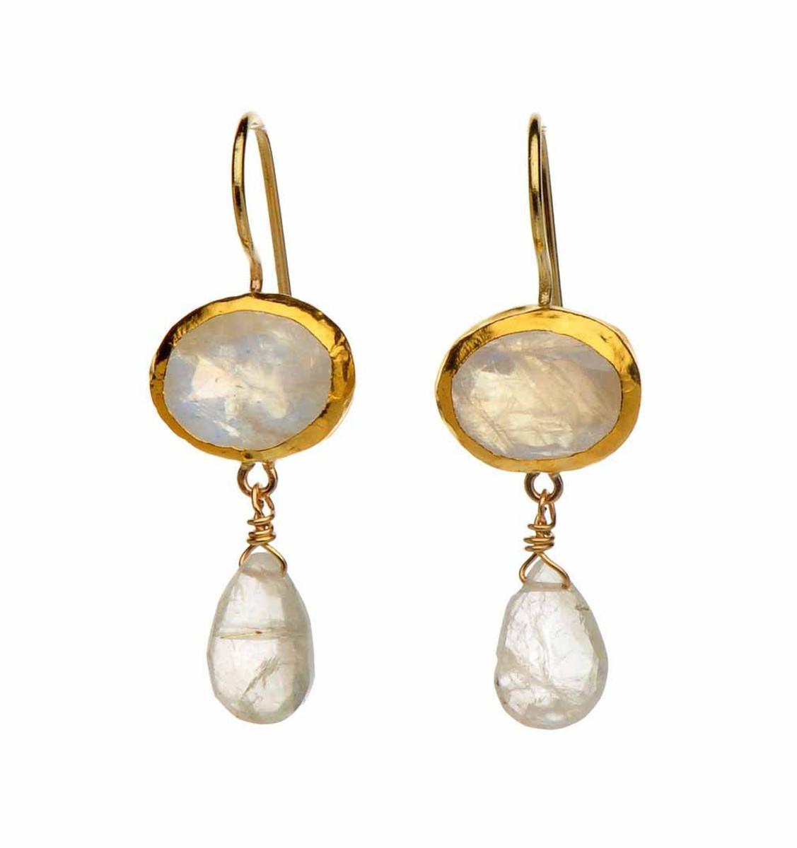 Nava Zahavi Moonlight Moonstone Earrings - New Arrival