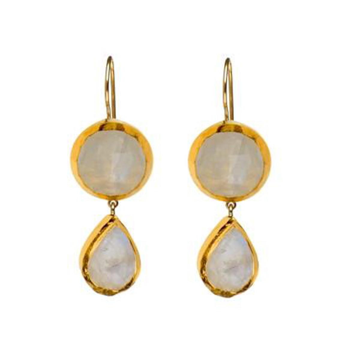 Wishful Moonstone Earrings by Nava Zahavi - New Arrival