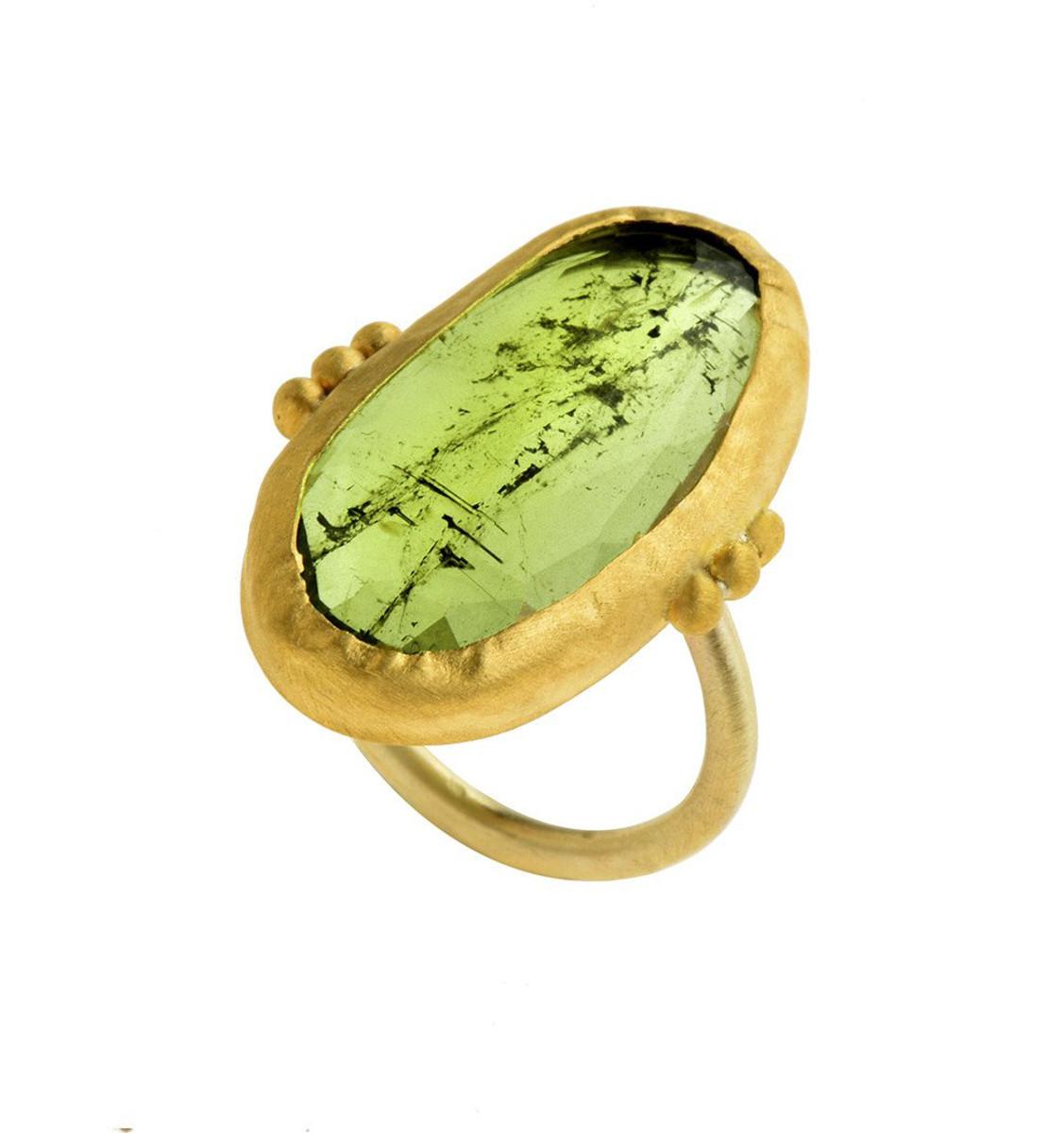 Great Green Tourmaline Ring by Nava Zahavi  - New Arrival