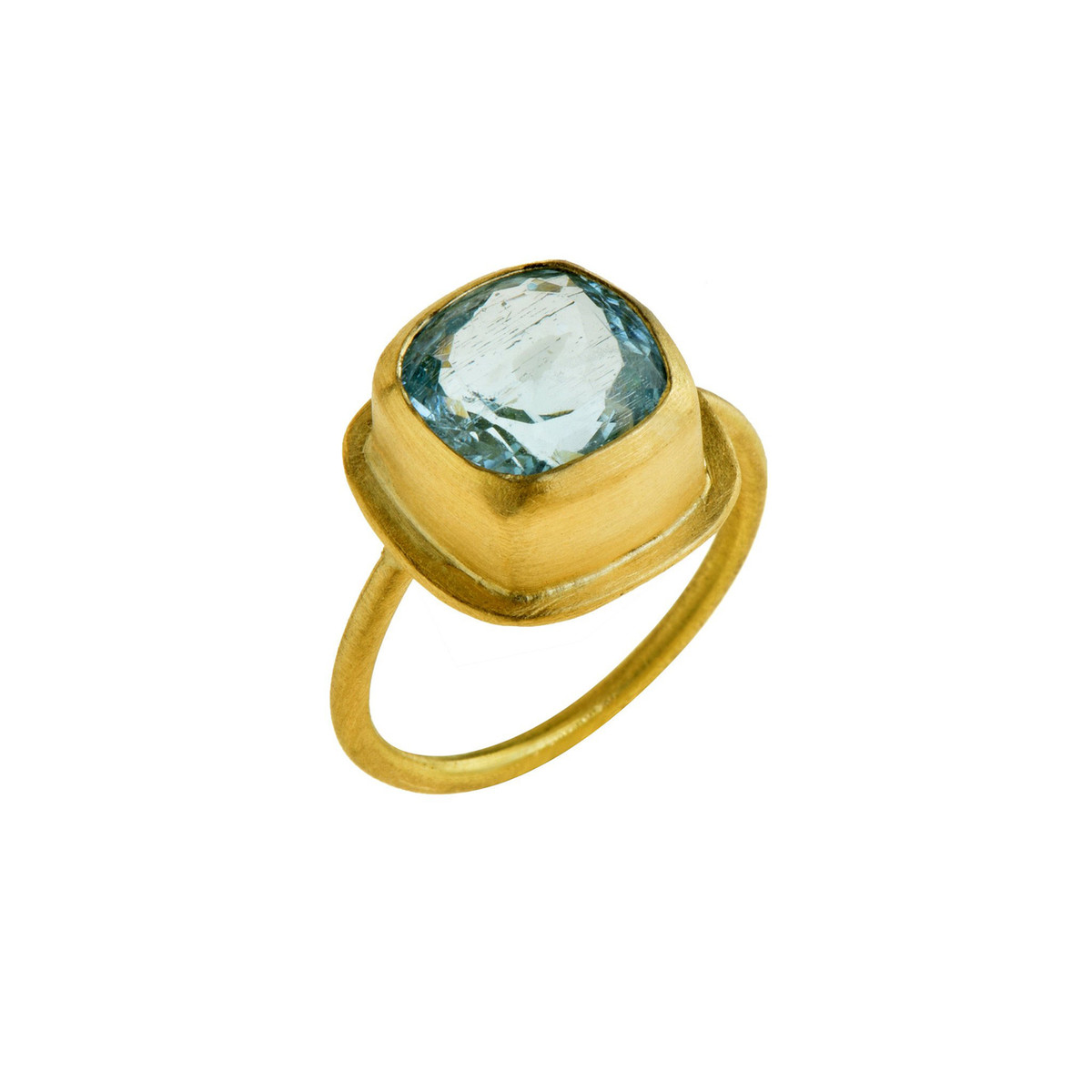 Skylight Blue Topaz Ring by Nava Zahavi - New Arrival