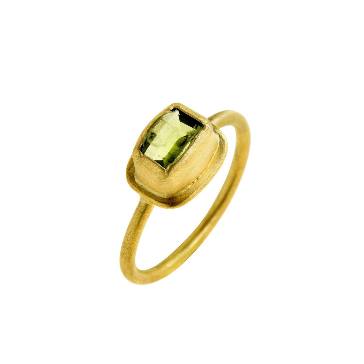 Perfect Peridot Ring by Nava Zahavi - New Arrival