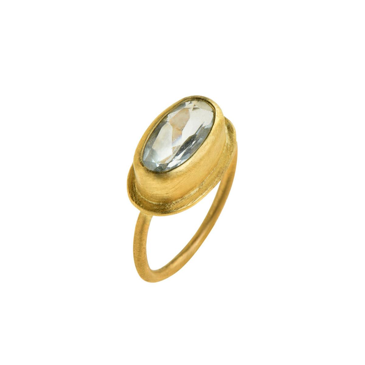 Azure Aquamarine Ring by Nava Zahavi  - New Arrival