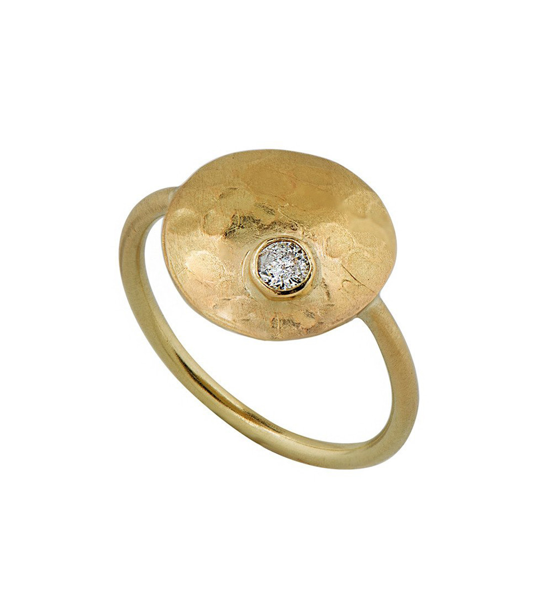 Artful Hand Gold Ring - New Arrival