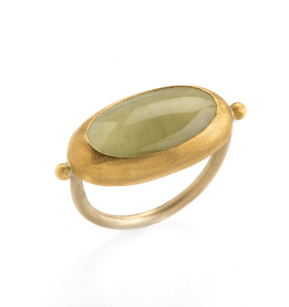 Courages Aquamarine Gold Ring by Nava Zahavi - New Arrival