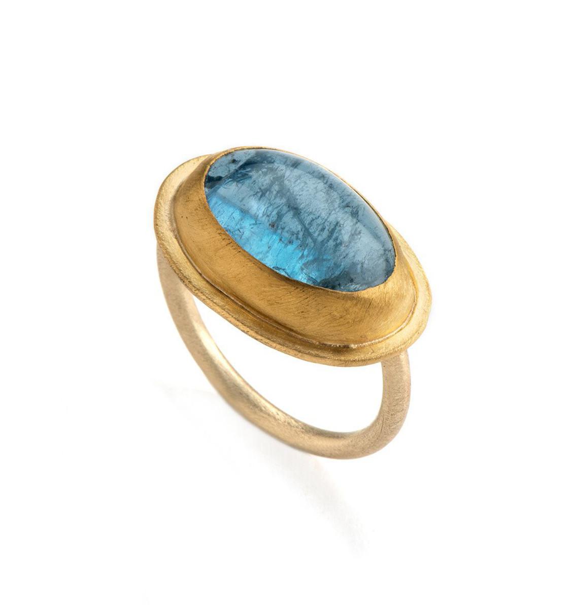 Bright Sky Aquamarine Gold Ring by Nava Zahavi - New Arrival