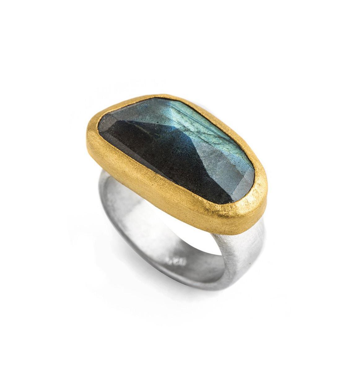 Timeless Labradorite Ring by Nava Zahavi - New Arrival