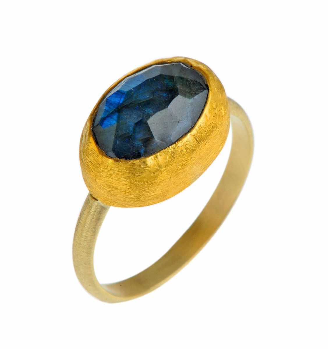 Forever Loving Labradorite Gold Ring by Nava Zahavi - New Arrival