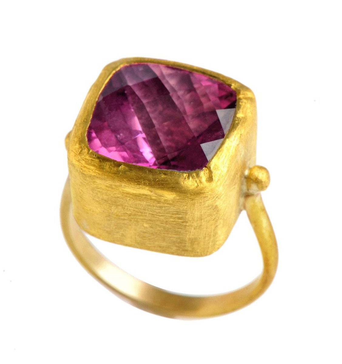 Sweet Candy Pink Topaz Gold Ring by Nava Zahavi - New Arrival