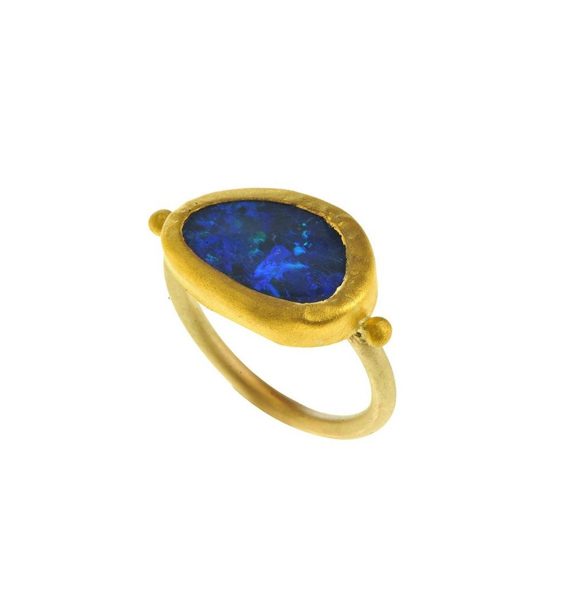 Brilliant Gold Opal Rin by Nava Zahavi - New Arrival