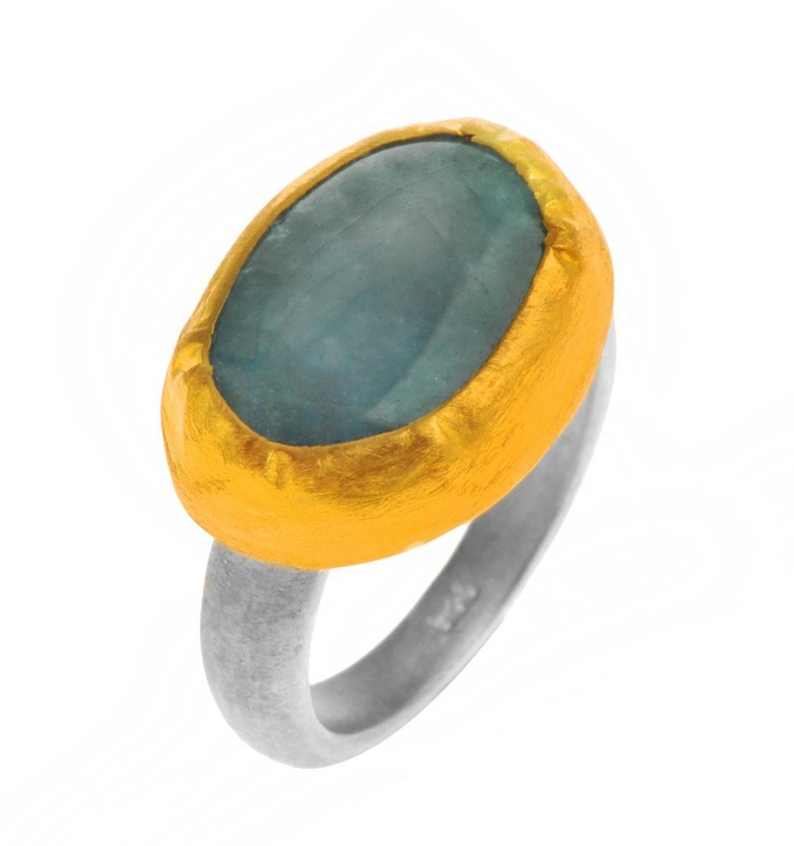 Artisan Aquamarine Ring - New Arrival