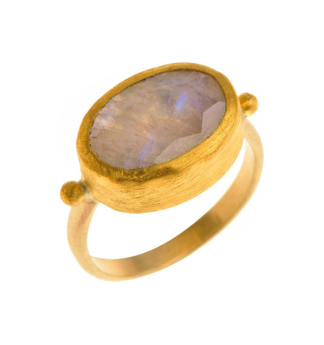 Bridal Moonstone Gold Ring - New Arrival
