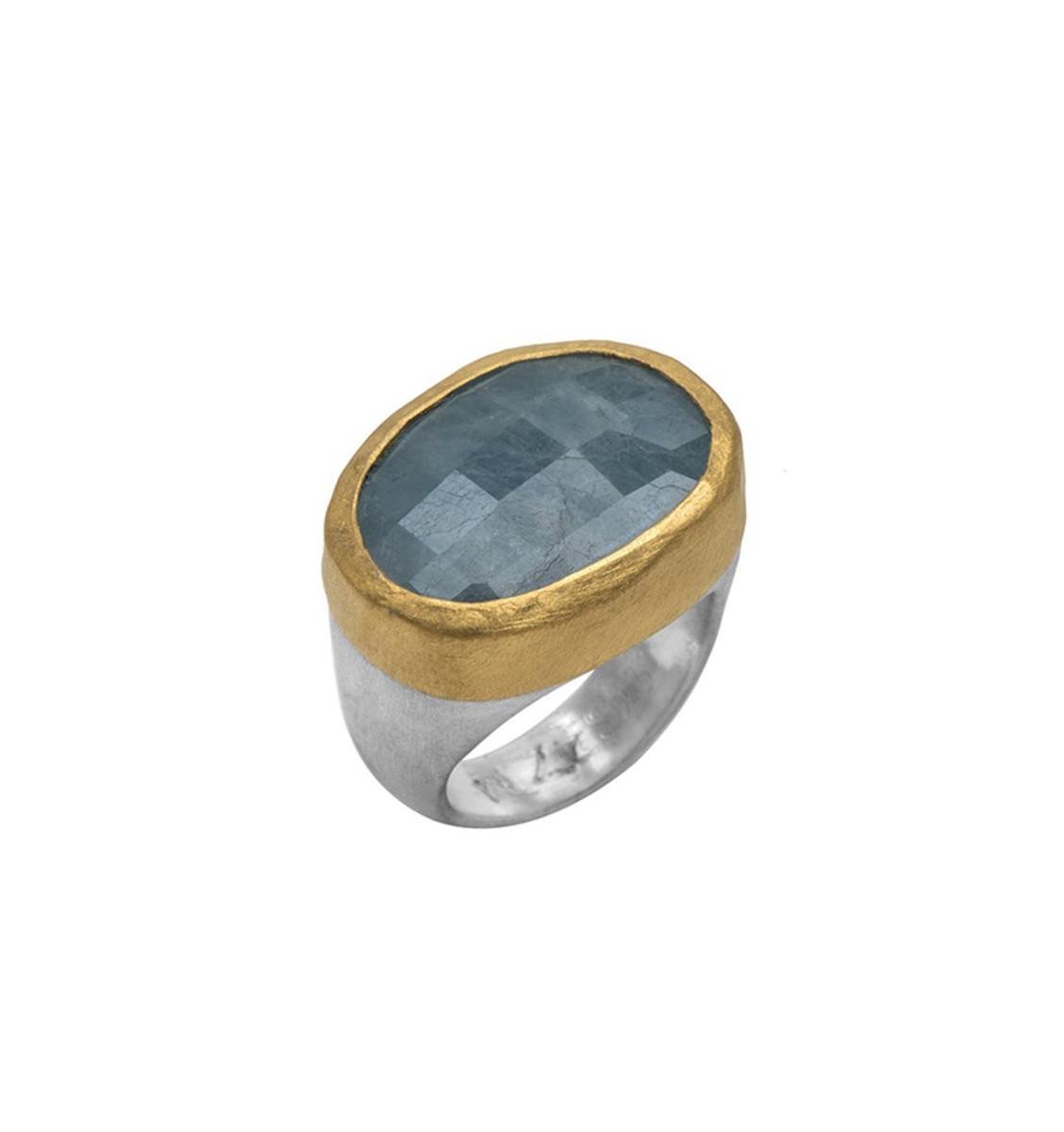 Oprahs Aquamarine Ring by Nava Zahavi - New Arrival