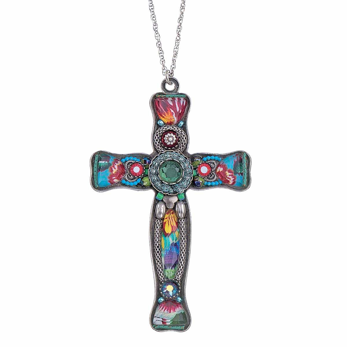 Ayala Bar God We Trust Large Cross Pendant Necklace