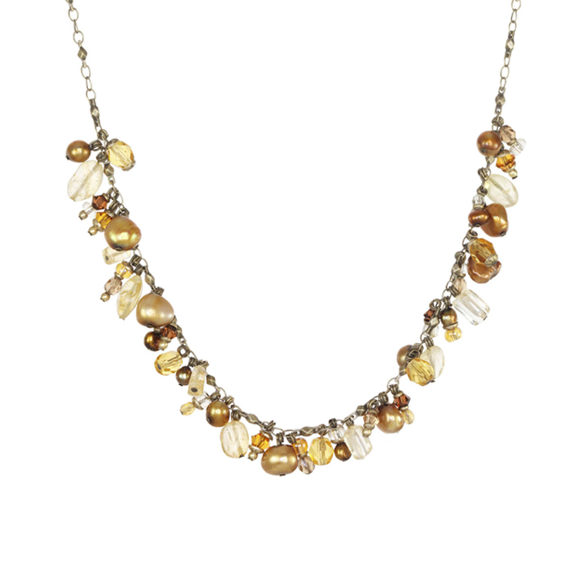 Michal Golan Citrine Dangle Bunch Necklace