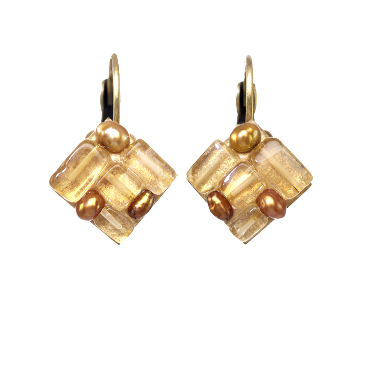 Michal Golan Jewelry Citrine Gold Earrings