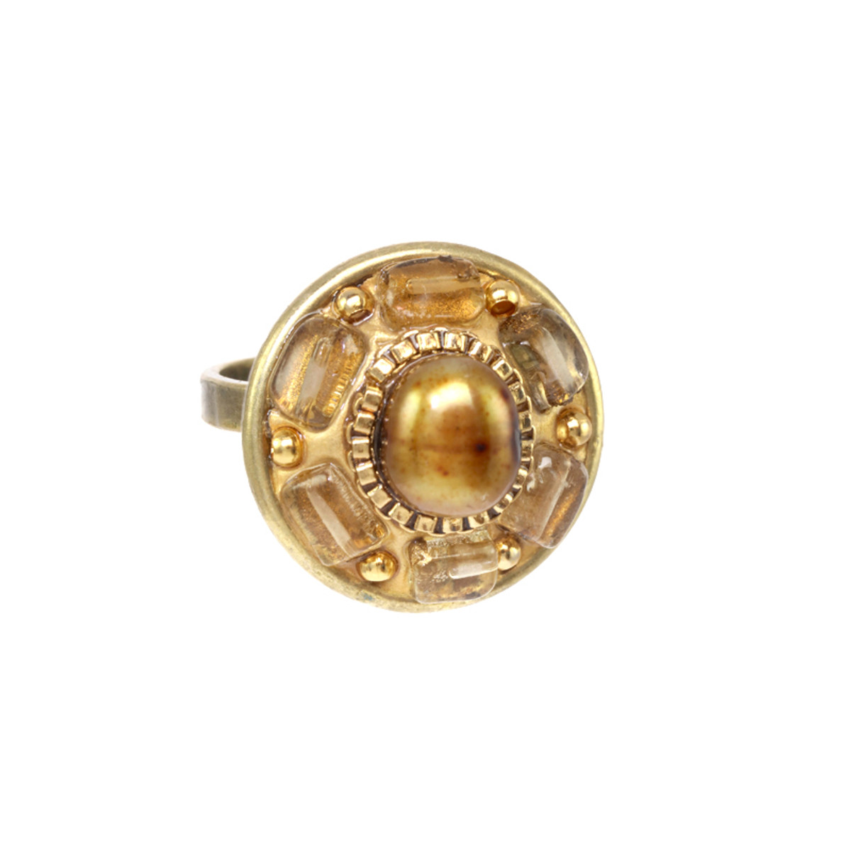 Michal Golan Citrine Round Ring