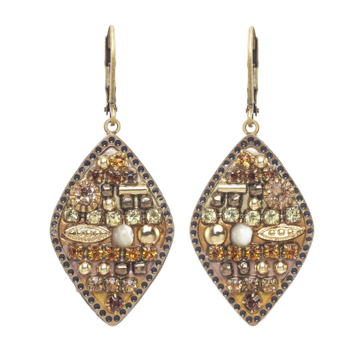 Michal Golan Citrine Small Diamond Earrings