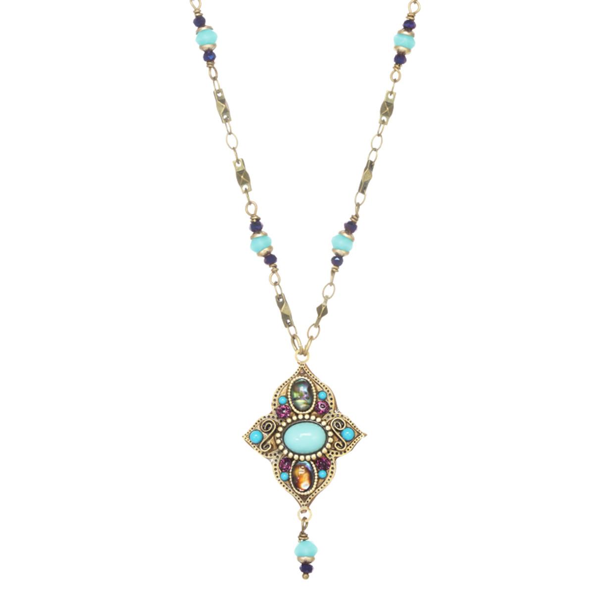 Michal Golan Kasbah Secret Flower Dangle Necklace