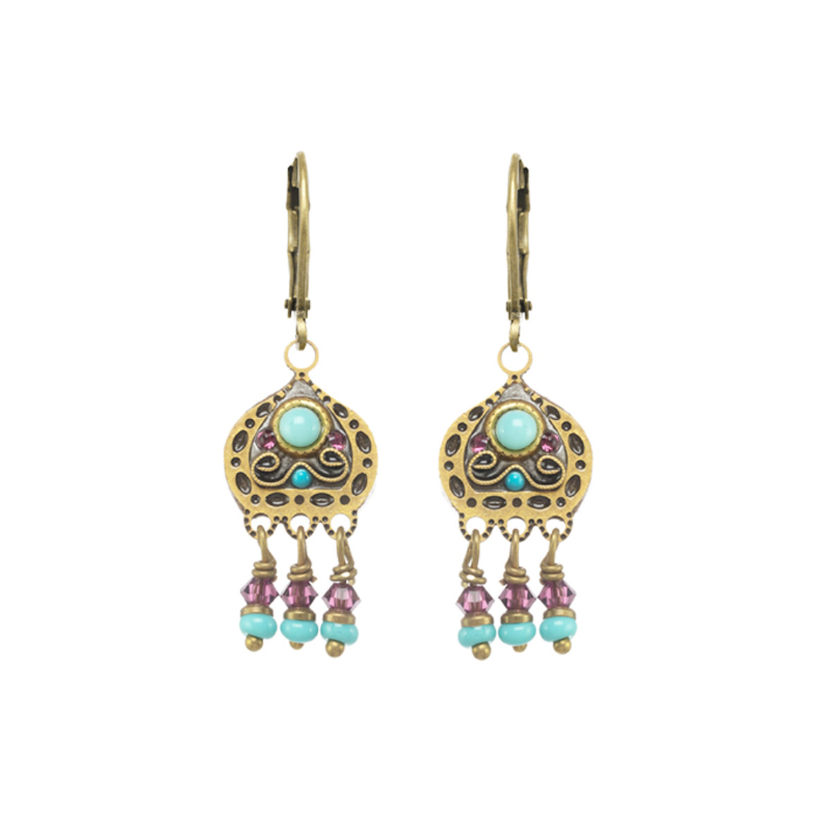 Michal Golan Kasbah Motif I Lever Back Earrings