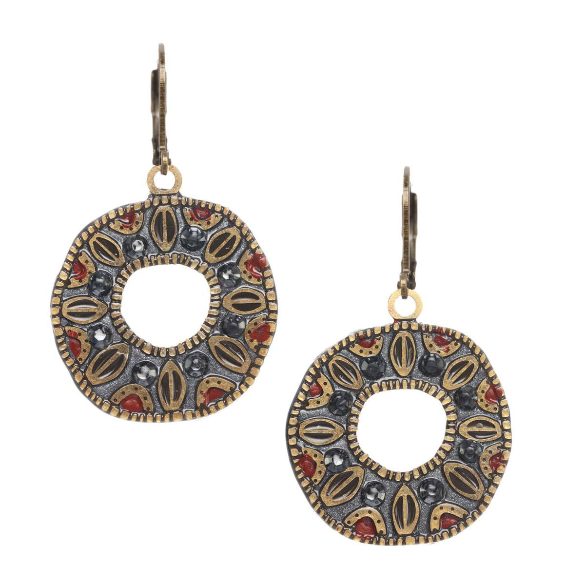 Michal Golan Canyon Open Circle Wire Earrings