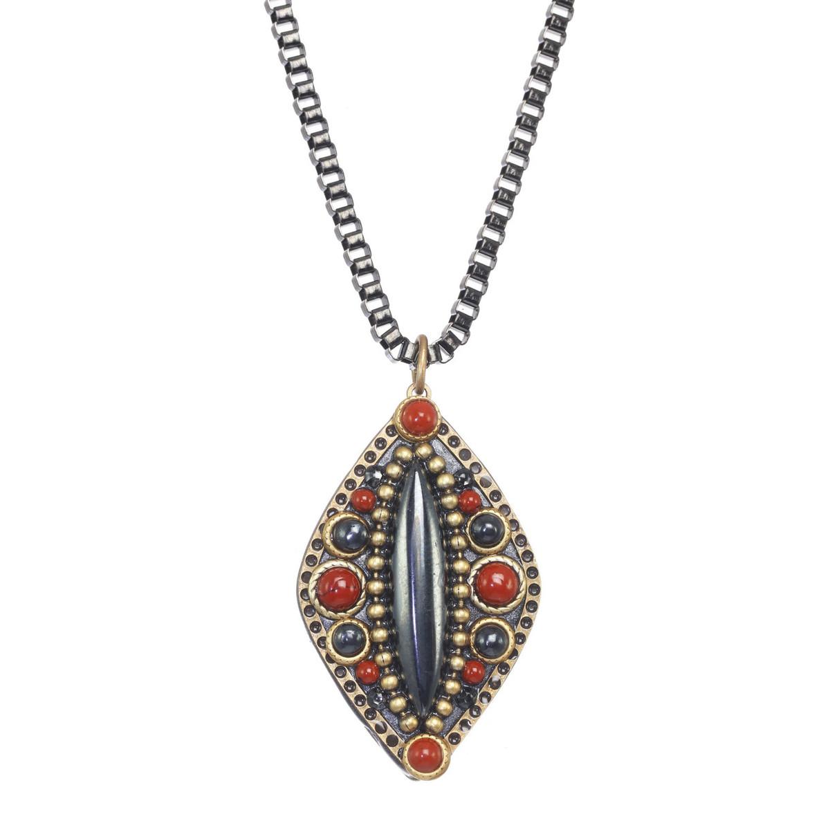 Michal Golan Canyon Medium Diamond Black Chain Necklace