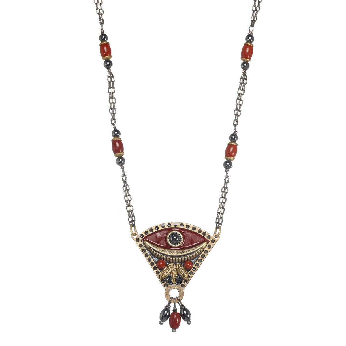 Michal Golan Canyon Eye Fan Necklace