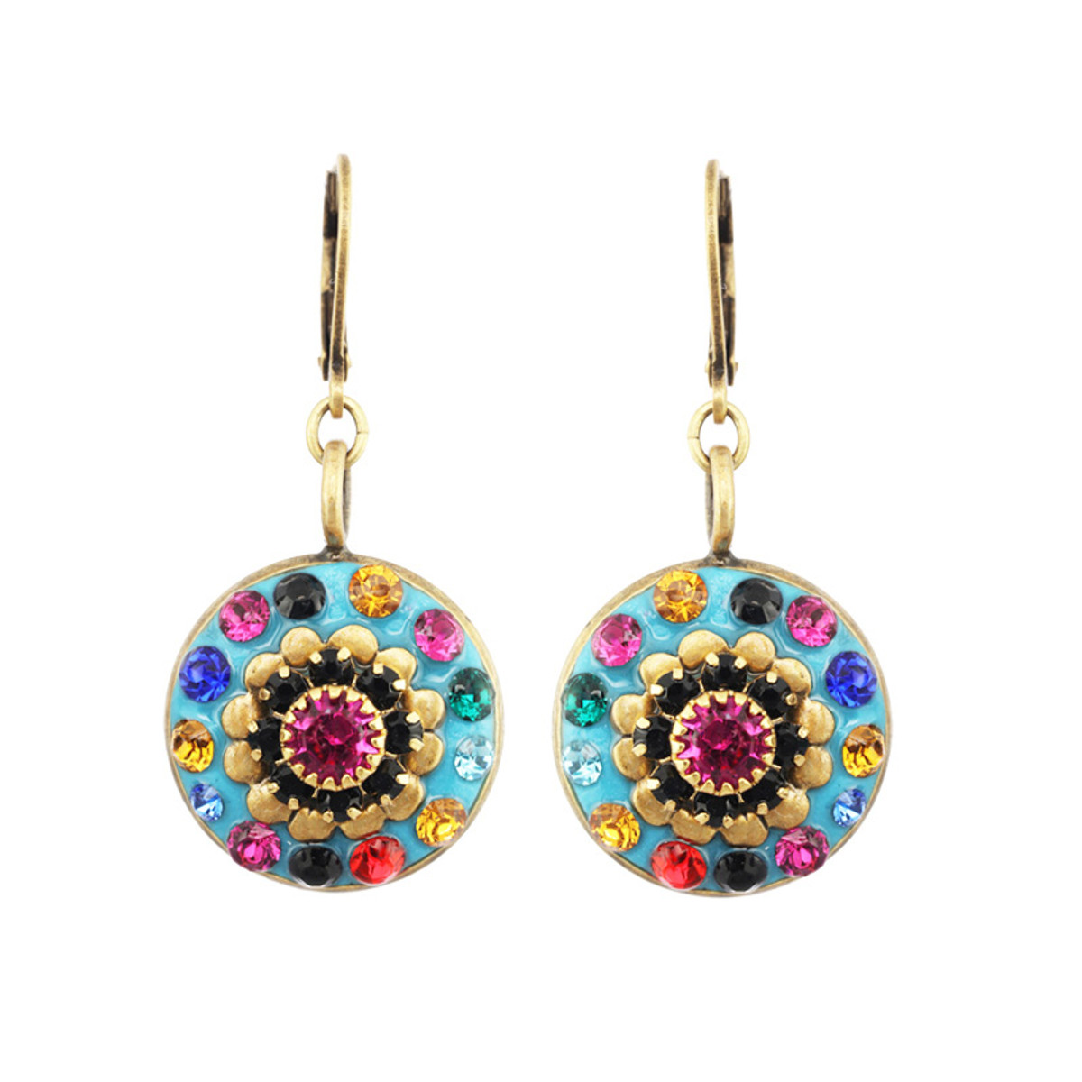 Michal Golan Magnolia Flower Earrings