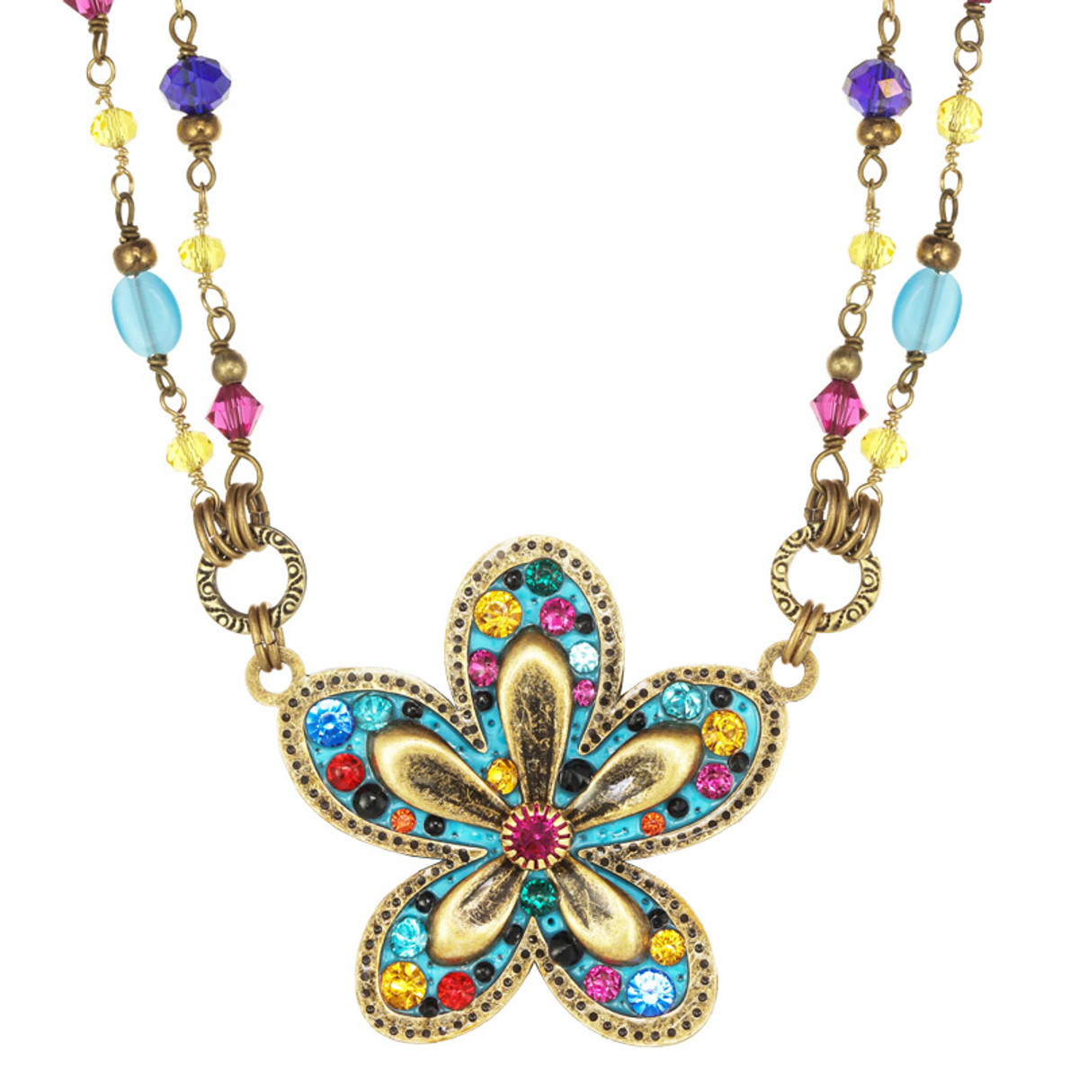 Michal Golan Groovy Flower Necklace
