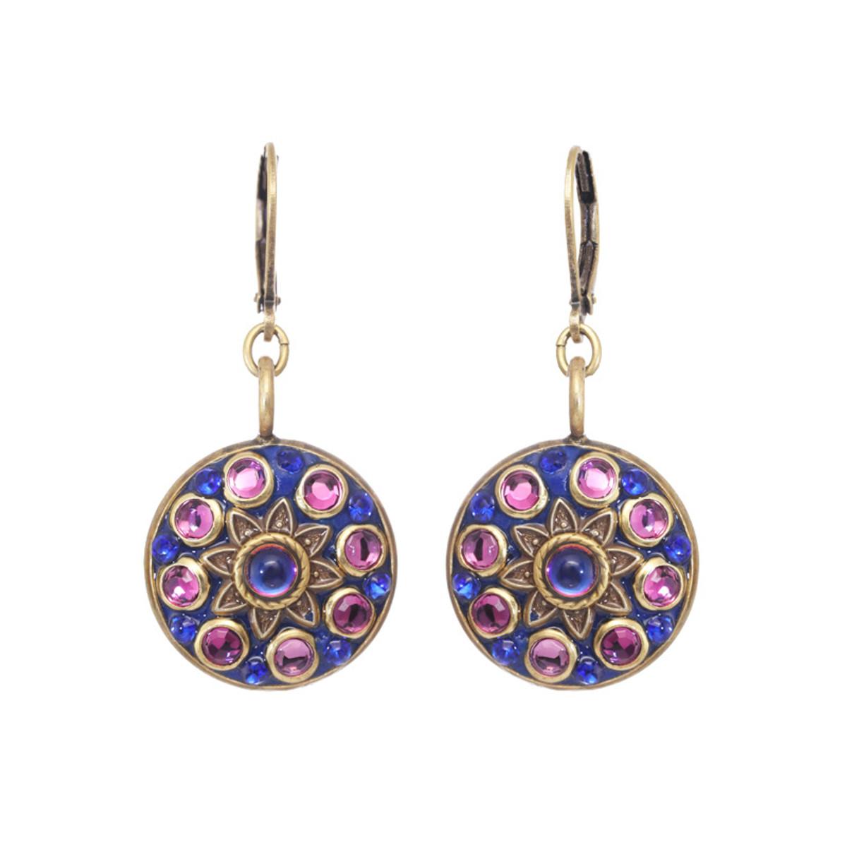Michal Golan Midnight  Star Flower Earrings