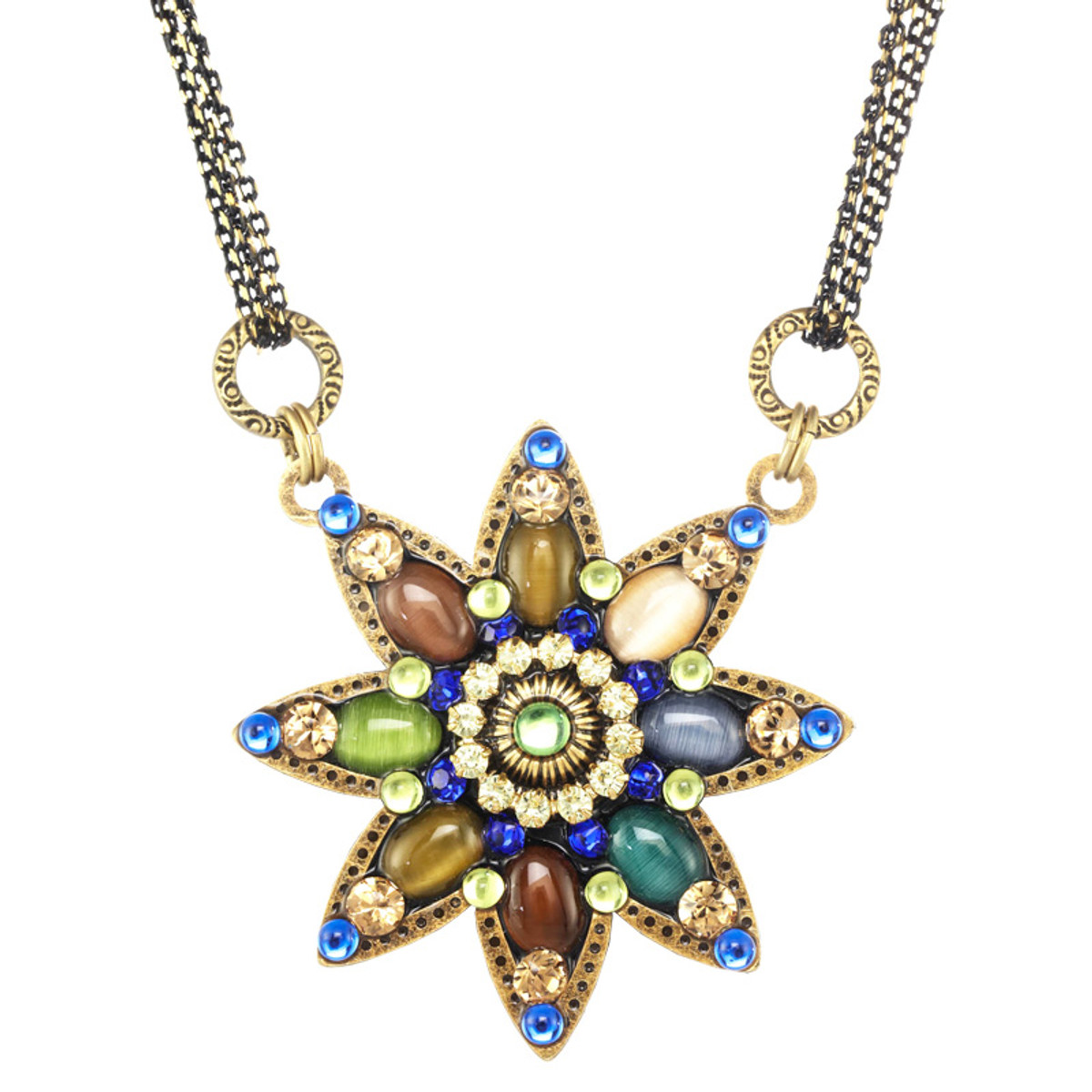 Michal Golan Dark Star Flower Necklace