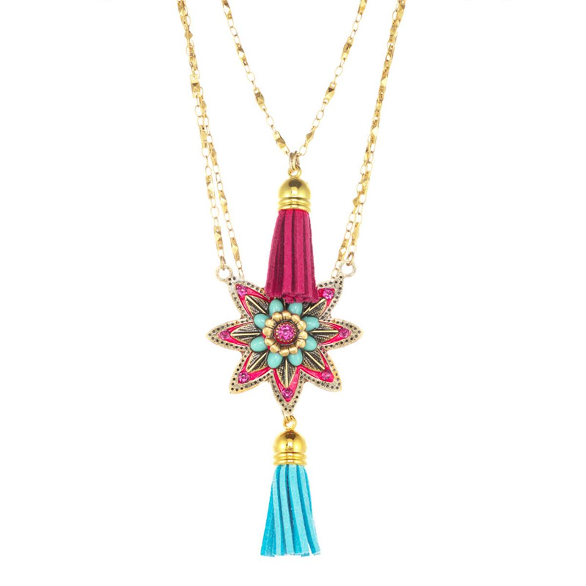 Michal Golan Star Flower Charm Necklace