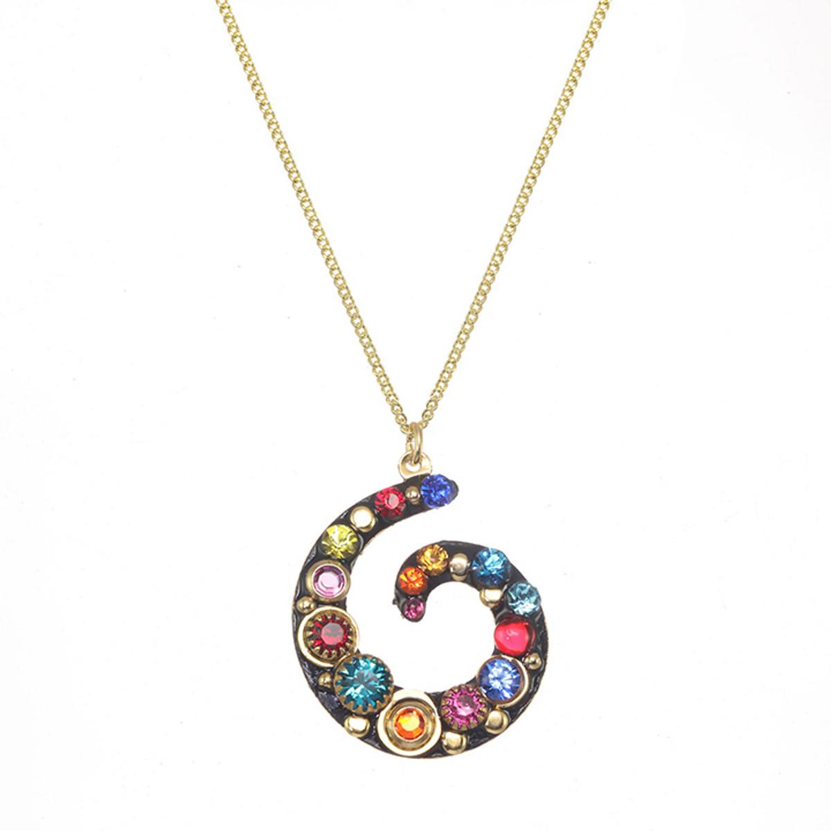 Michal Golan Cosmic Swirl Necklace