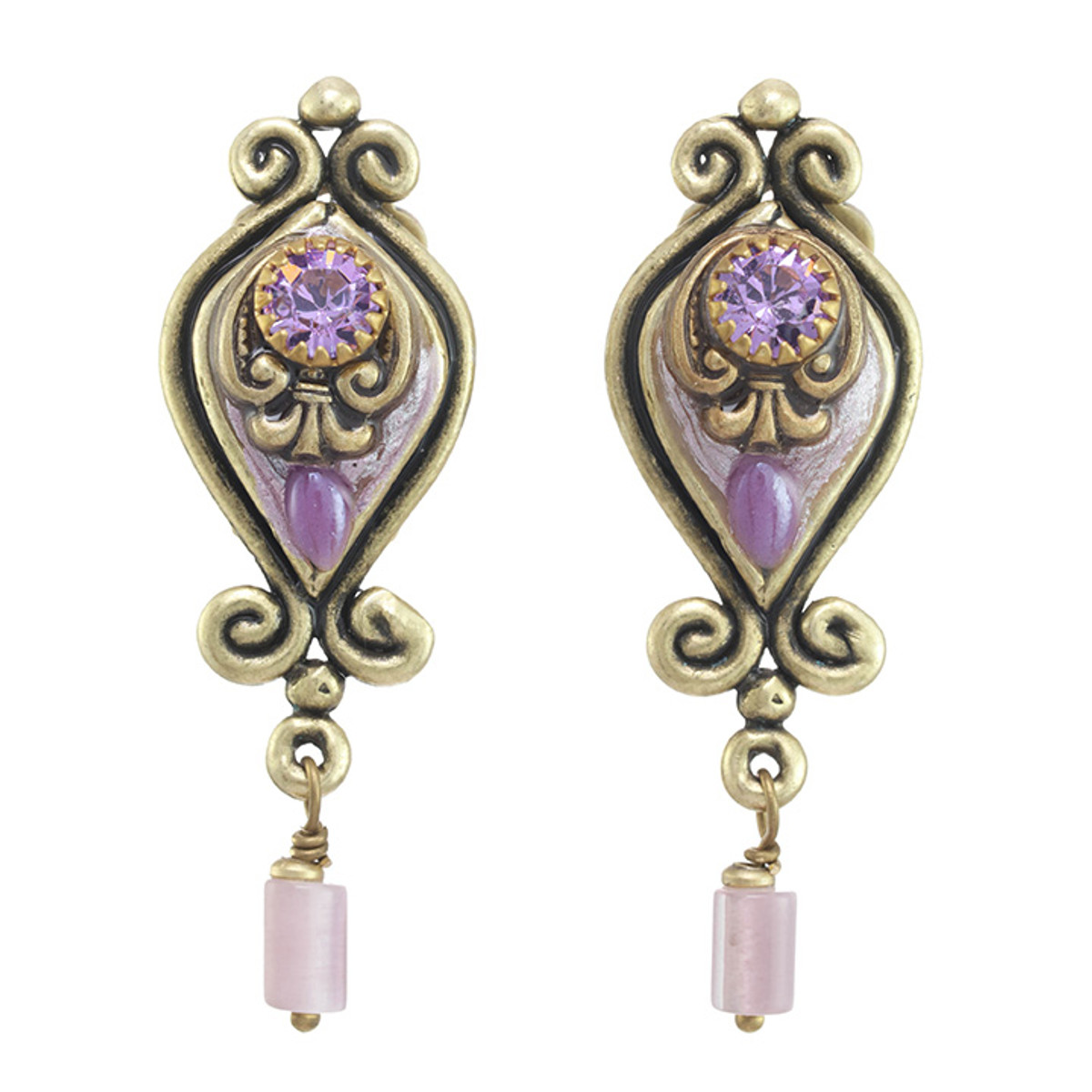 Michal Golan Lilac Style Earrings