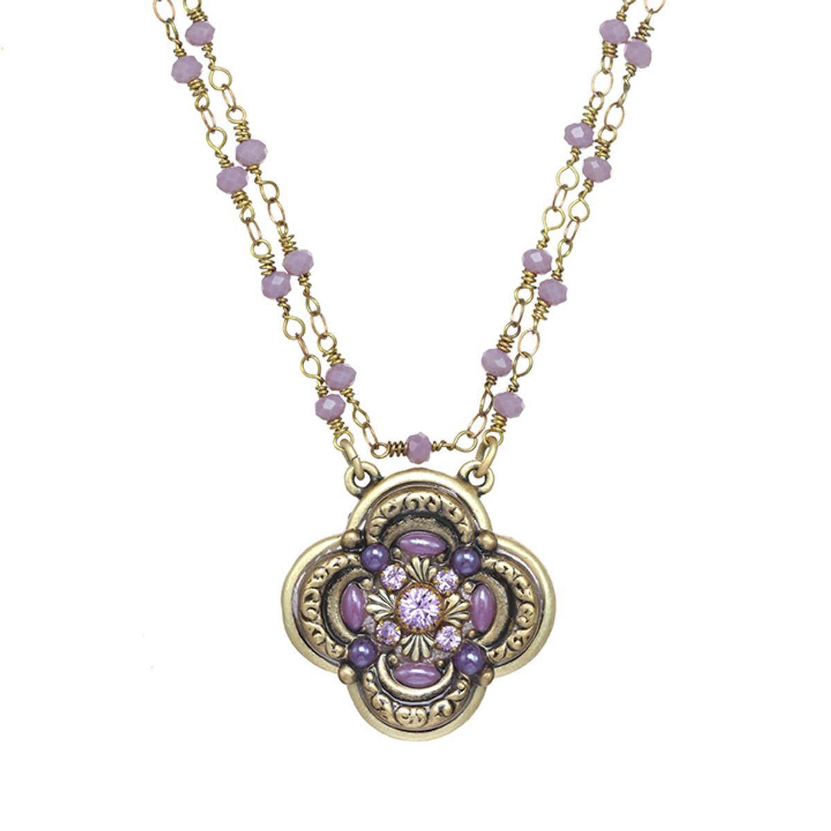 Michal Golan Michal Golan Lilac Flower Pendant Necklace