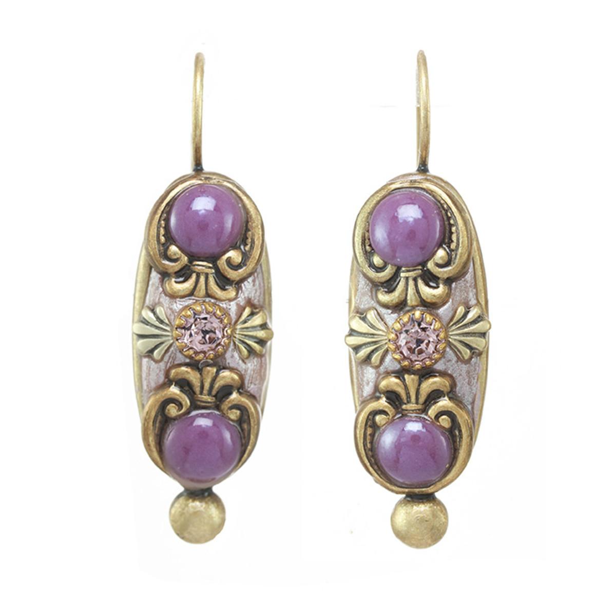 Michal Golan Michal Golan Lilac Long Oval Earrings