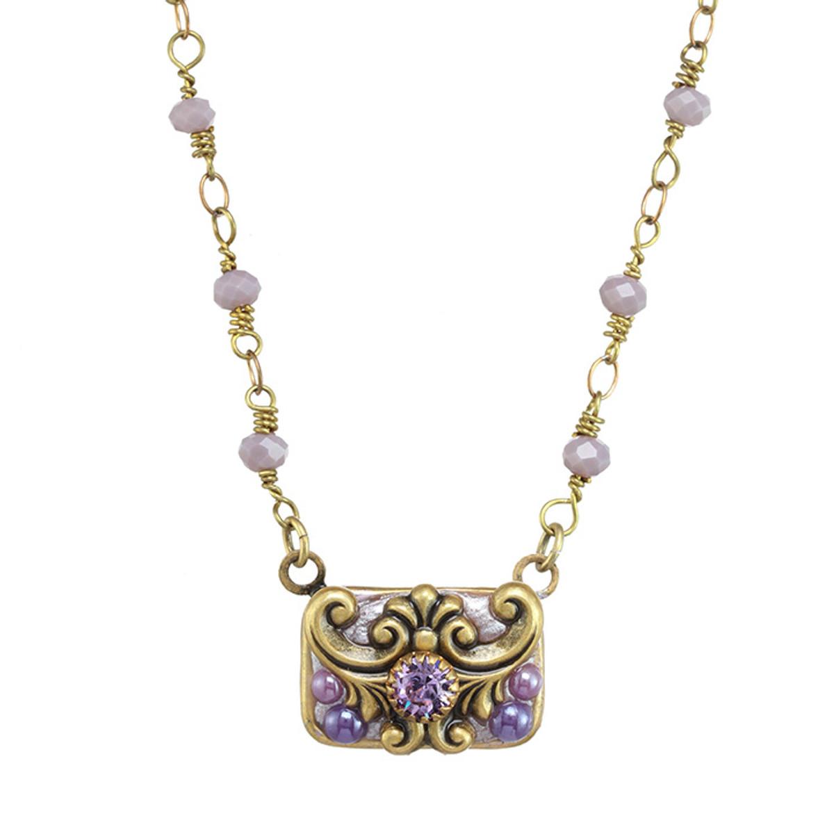 Michal Golan Michal Golan Lilac Rectangle Necklace