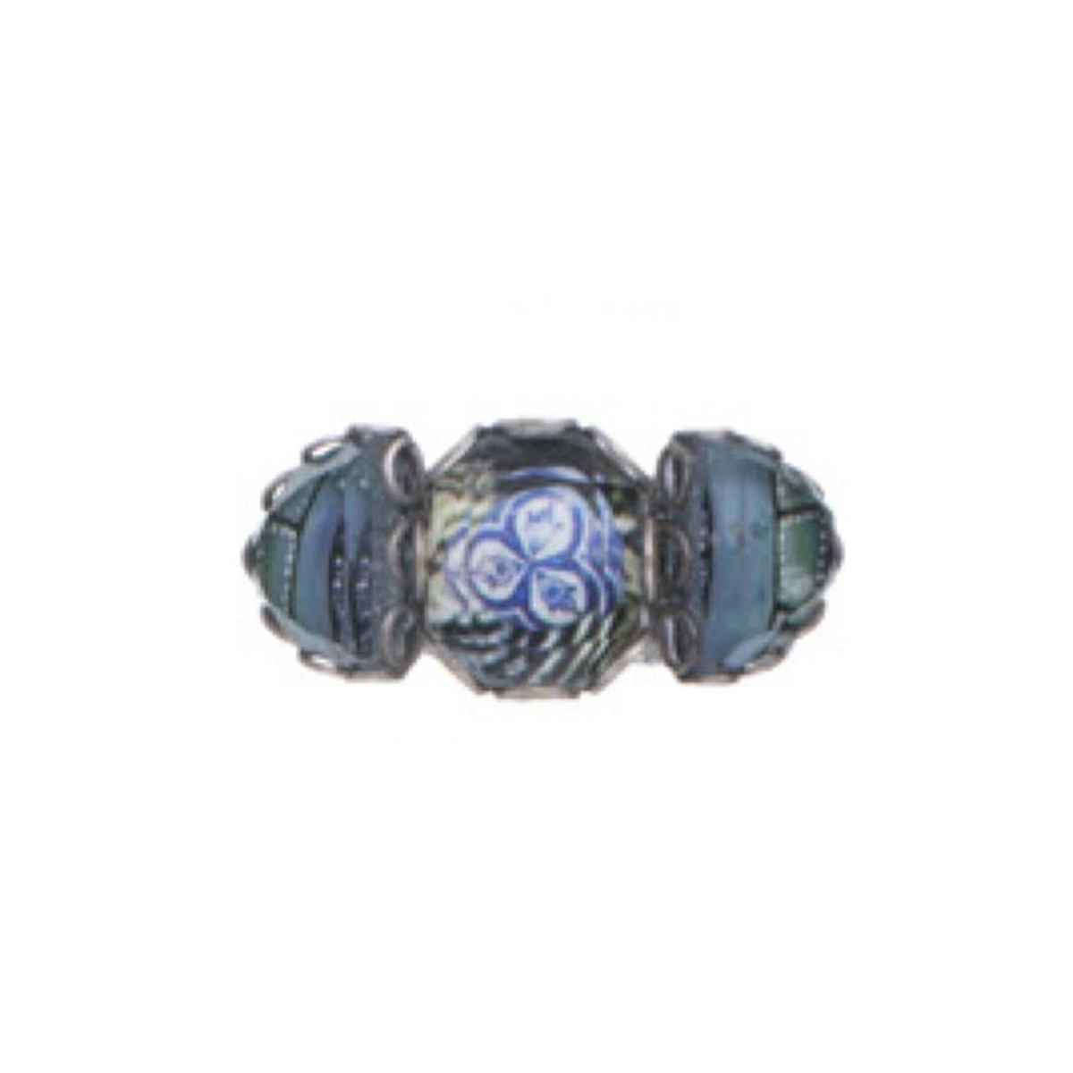 Ayala Bar Blue Planet Blue Azure Adjustable Ring - New Arrival