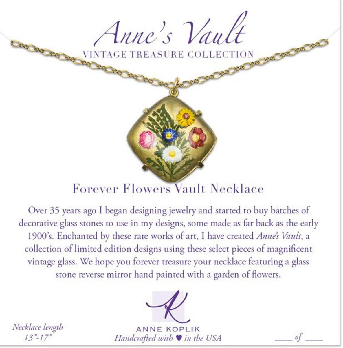 Anne Koplik Forever Flowers Vault Necklace