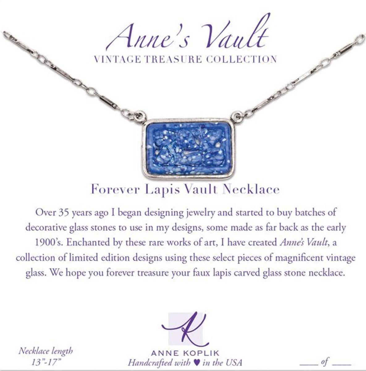Anne Koplik Forever Lapis Vault Necklace