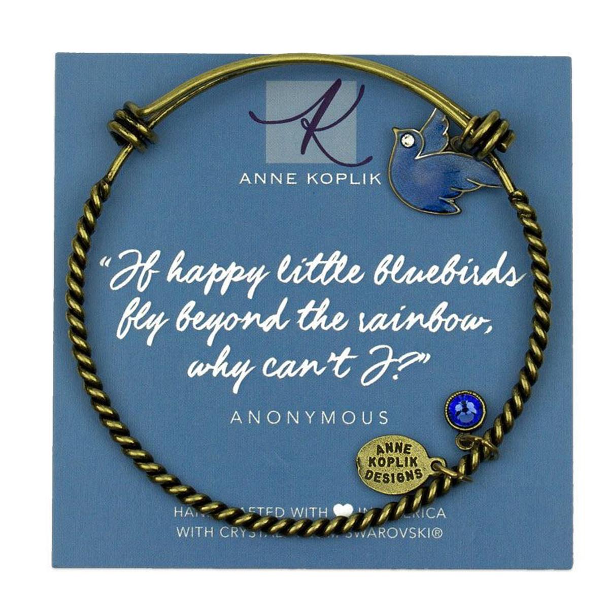 Anne Koplik Bluebird Joy Charm Bangle