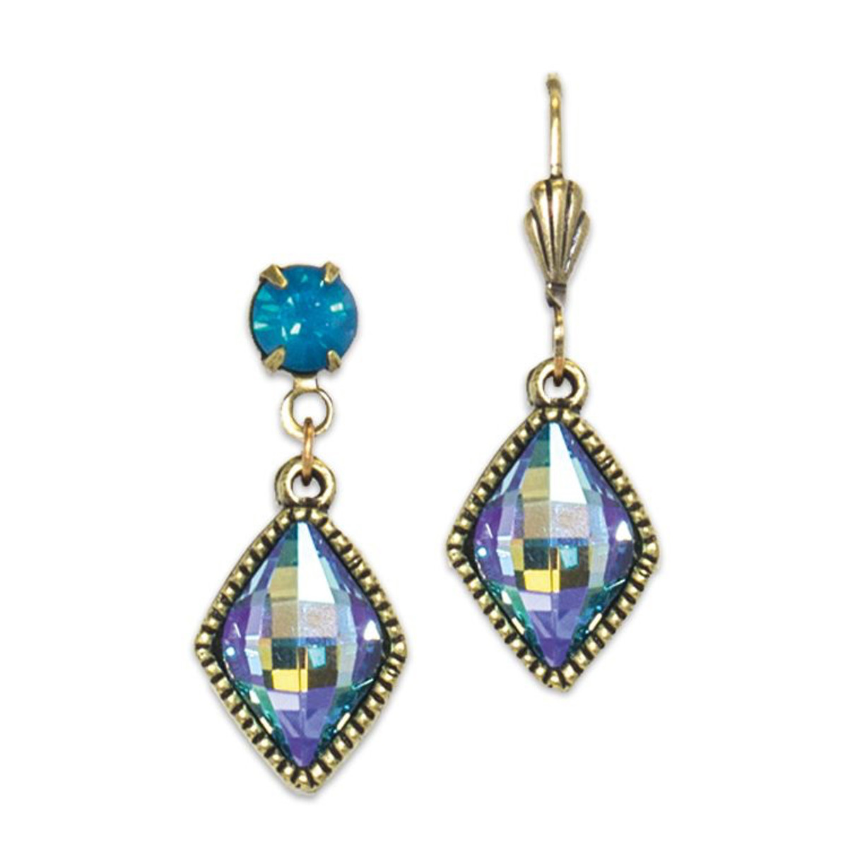 Anne Koplik Aquamarine Marquise Drop Earrings