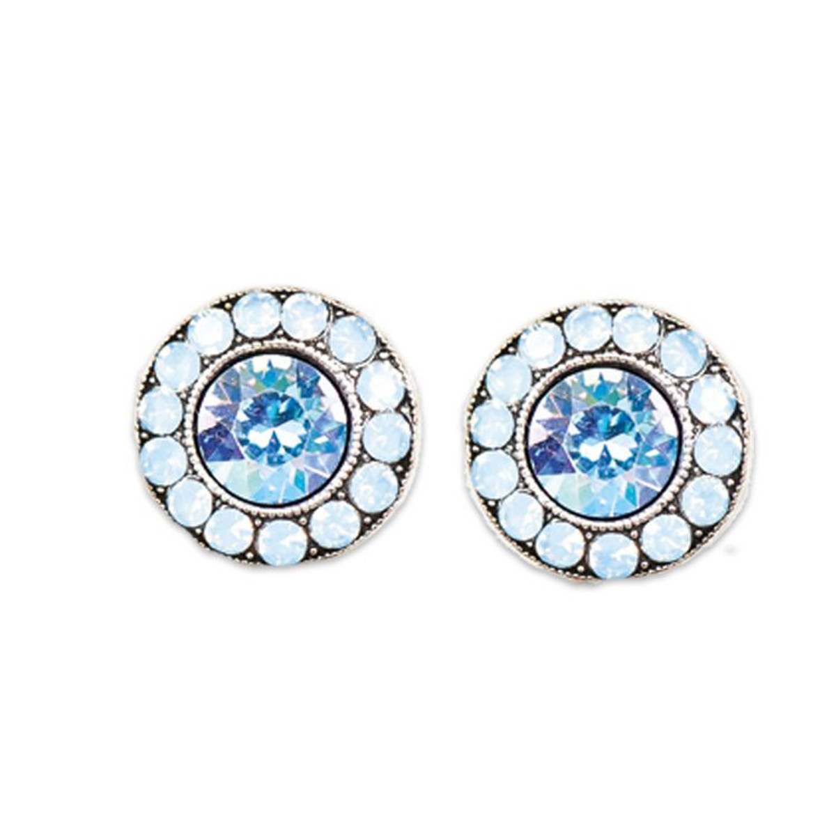 Anne Koplik Light Air Blue Stud Earrings